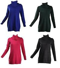 H&M - Womens Ladies Cowl Neck Knitted Jumper Dress Top 4 COLOURS-SIZE XS S M L