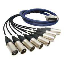 25 Pin D Sub to Male XLR Cable. Serial db-25 Van Damme Multicore Snake Loom Lead
