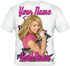 ★ Kids Personalised Koolart Hannah Montana Miley Cyrus T Shirt CHRISTMAS Great ★