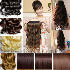 """New 18""""-24"""" Women Hair Extensions Long Wavy Curly/Straight Synthetic Clip in on"""