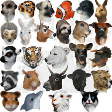 Fancy Latex Animal Rat Dalmatian Pig Goat Farmyard Party Props Halloween Masks