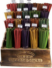 COLOURED WOODEN INCENSE STICKS - Packs of 20 - Various Scents - *Free UK P&P*