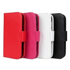 1x PU Leather Wallet Stand Case Cover F Samsung Galaxy Trend GT-S7562 S Duos NEW