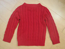 Boys/Girls Ex NEXT Cable Knit 100% Cotton Jumper 2 3 4 5 6 7 8 9 10 11 Xmas NEW