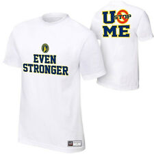 WWE Authentic John Cena Even Stronger U Can't Stop Me Mens White T-shirt  - NEW