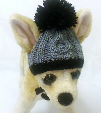 Pet Clothes Apparel Winter Outfit Crochet Yarn Hand-Knit  Hat for Small Dog