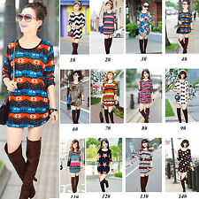 2014 Fashion Women Long Sleeve Sexy Crew Neck Dress Tee Tops T-Shirt In 15 Color