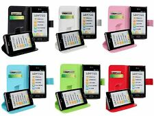 1X PU Leather Wallet Card Case Cover Protector For LG OPTIMUS L7 P705/P705G/700