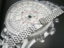 STEEL WATCH BRACELET STRAP FOR BREITLING NAVITIMER CHRONOMAT 20 22MM WATCHES
