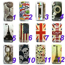 Various Cartoon Design Hard Skin Case Cover For HTC ONE V + Film