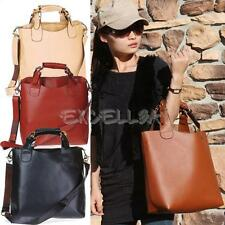 Euramerican Vintage Faux Leather Shopper Tote Handbag Bag for Women E0Xc