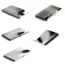 Vogue Stainless Steel Silver Aluminium Business ID Name Credit Card Holder Case
