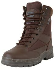 BROWN Half Leather Walking Boots Combat Patrol Tactical Military Size 6-11 Army
