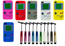 Gameboy Game Boy Silicone Case Cover for Apple IPHONE 5 5S 4 4S w. FREE STYLUS