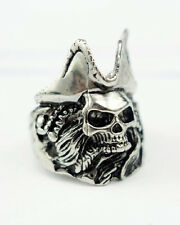 Men's 316L Stainless Steel Captain Jack Sparrow Rings Size7 8 9 10 11 12 13