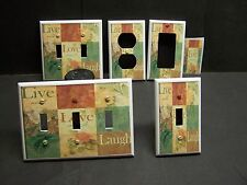 LIVE LOVE LAUGH INSPIRATIONAL BED & BATH DECOR LIGHT SWITCH OR OUTLET COVER V522