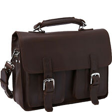 "Vagabond Traveler 16"" Large Pro Leather Briefcase Laptop Case L36-LCB"