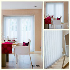 White Made to Measure Vertical Blinds - Various White Textured Fabrics Available
