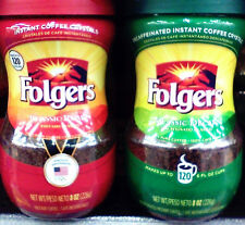 Folgers Instant Coffee .. 8oz jar .. approx 120 servings..