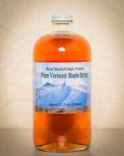 1 Liter Pure Vermont Maple Syrup in a Glass Bottle- Choice Grade