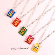 FUNKY MINI CRISP PACKET NECKLACE QUIRKY CUTE RETRO GIFT SNACK FOOD NOVELTY FUN