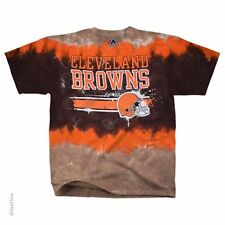 New CLEVELAND BROWNS HORIZONTAL STENCIL  Tie Dye  T Shirt  NFL LICENSED APPAREL