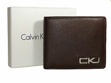 NEW Calvin Klein Jeans wallet Genuine Cow Leather Black or Brown Men`s