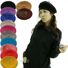 12 Colors Warm Wool Girl Beret French Artist Ski Cap Beanie Hat 12 Colors B75U