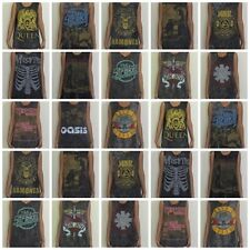 Ladies Free Size Rock Stonewash Vest Tabk Top Singlet Crop Top Dress T-Shirt