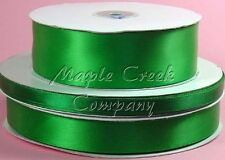 Double Face EMERALD GREEN 100% Polyester Satin Ribbon Assorted Sizes