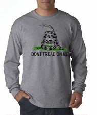Dont Tread on Me Gadsen Flag Tea Party Military Navy Army NRA L/S T-Shirt S-3XL