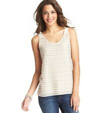 NWT ANN TAYLOR LOFT Featherstone Glam Shimmering Sequin Stripe Shell Shirt $59