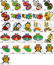 #1345E Insect Caterpillar Animal Children Kids Sew Iron on Motif Patch Applique