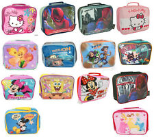 KIDS CHARACTER LUNCH BAGS/Lunch Sets INSULATED SCHOOL GIFT NEW