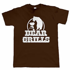 Bear Grills Funny Mens T-Shirt - Fathers Day Gift For Dad
