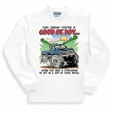 Novelty SWEATSHIRT Good 'ol boy when you need a stepladder to get in out truck