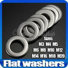 RONDELLE Stainless Steel Metal Form Flat Washers Fit Bolts & Screws Kit Tools