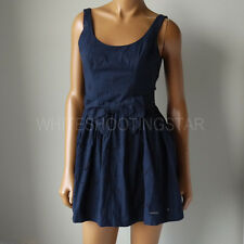 NWT ABERCROMBIE & FITCH ANF WOMENS Navy Spring Summer Floral lace Eyelet Dress
