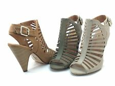 New Women Strappy Peep Toe Wooden High Heel Sandals Ankle Buckle Shoes Shaky-S