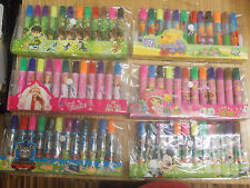 DISNEY ASSORTED 12 FELT TIP PEN SET  6 DIFFERENT CHARACTERS TO CHOOSE FROM