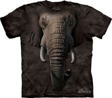 Big Face Elephant T-Shirt by The Mountain. Giant Head Zoo Animal Sizes S-5XL NEW