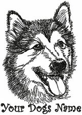 Personalized SIBERIAN HUSKY Dog Breed Embroidered T-shirt - Youth M- Adult XL