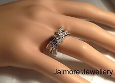 Engagement Dress Ring Genuine 925 Sterling Silver AAA CZ Eternity Infinity Gift