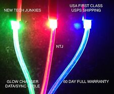 GLOW led light-up data sync charger charge power cable usb neon for iphone 4 4S