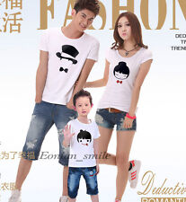 New Lovers MOM DAD BABY Kids Family T-Shirt Summer Lycra Stretch Cotton QYA6209