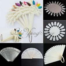 10pcs White Acrylic UV False Nail Art Design Tips Polish Display Practice Wheel