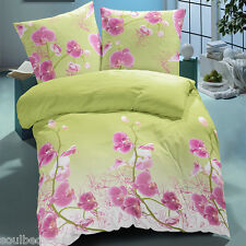 Orchid - SoulBedroom 100% Cotton Sateen Bed Set (Duvet Cover & Pillow Cases)