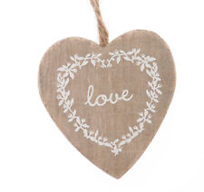 Vintage Shabby Chic Hanging Heart Decorations - Wedding