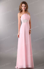 2014 Hot New Sexy Long Chiffon Evening Formal Party Wedding Prom Dress Ball Gown