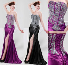 CHIC Mermaid SEXY IN US Sequins Strapless Formal Cocktail Banquet Evening Dress